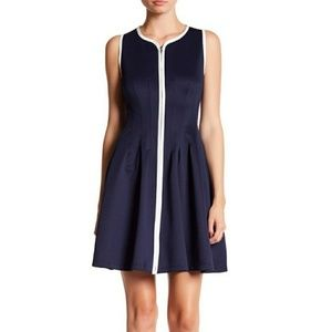 NWOT Betsey Johnson Navy  Zipper Front Dress